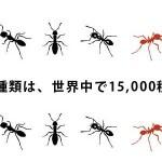「写真無し図あり」昆虫好きにはたまらない?蟻(アリ)さんの分布図が公開されました